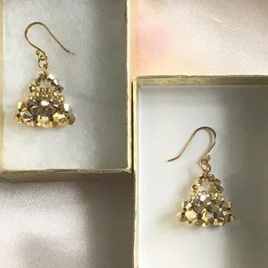 Jewelry - 925 stamped bicone beads dangle earring
